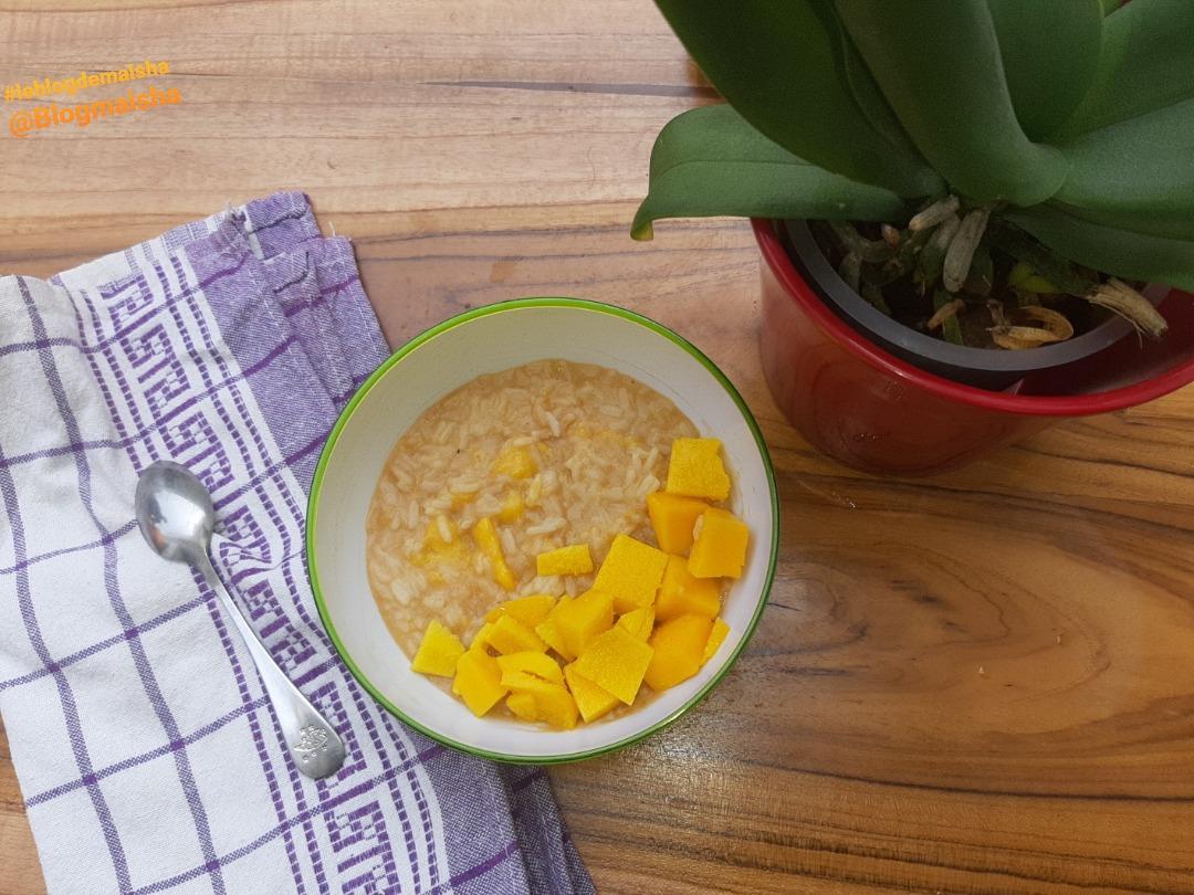 Repas bébé: Bouillie de riz au baobab et mangue