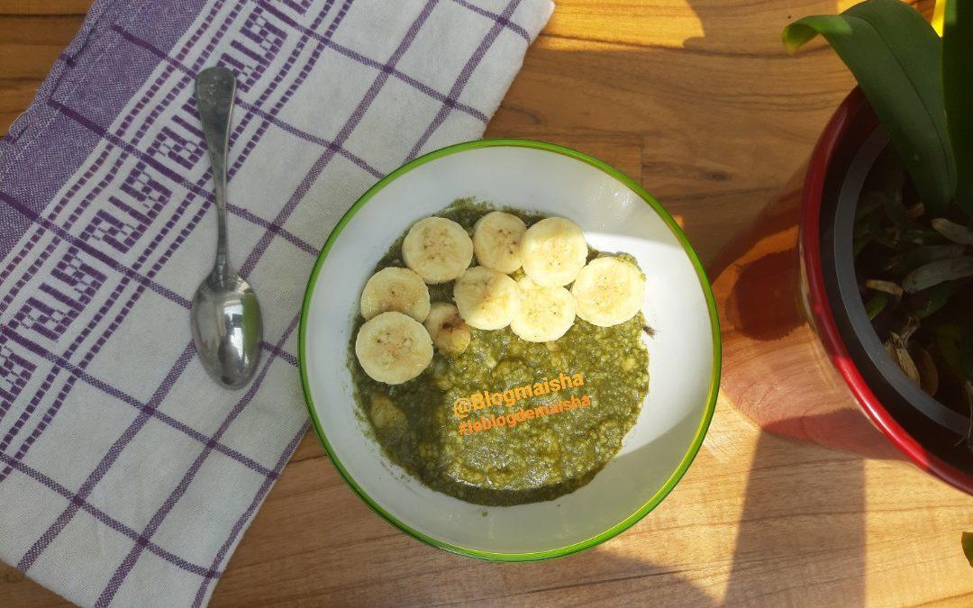 Repas pour bébé: Aklui au moringa et à la banane